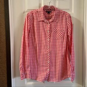 Tommy Hilfiger Pink/White Checkered Button Up Top